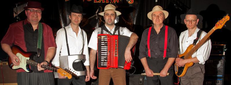 Down-South-Party, schweißtreibend und polternd, laden die Zydeco Playboys ihr Publikum ein. Foto: Zydeco Playboys